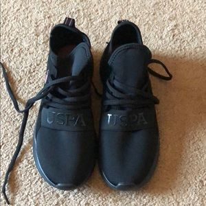 US POLO Size 6 Black Athletic Sneakers